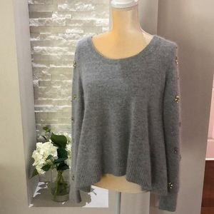 Victoria's Secret Gray HiLo Embellished Sweater XS